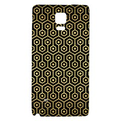 Hexagon1 Black Marble & Gold Brushed Metal Samsung Note 4 Hardshell Back Case by trendistuff