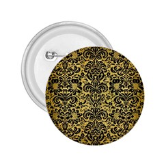 Damask2 Black Marble & Gold Brushed Metal (r) 2 25  Button by trendistuff