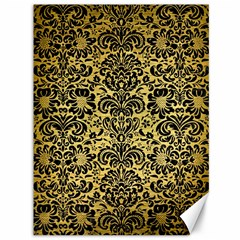 Damask2 Black Marble & Gold Brushed Metal (r) Canvas 36  X 48  by trendistuff