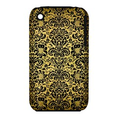 Damask2 Black Marble & Gold Brushed Metal (r) Apple Iphone 3g/3gs Hardshell Case (pc+silicone) by trendistuff