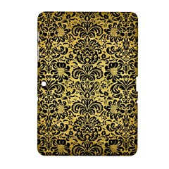 Damask2 Black Marble & Gold Brushed Metal (r) Samsung Galaxy Tab 2 (10 1 ) P5100 Hardshell Case  by trendistuff