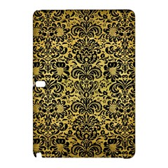 Damask2 Black Marble & Gold Brushed Metal (r) Samsung Galaxy Tab Pro 10 1 Hardshell Case by trendistuff
