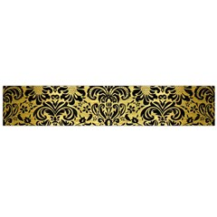 Damask2 Black Marble & Gold Brushed Metal (r) Flano Scarf (large) by trendistuff