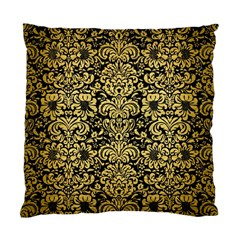 Damask2 Black Marble & Gold Brushed Metal Standard Cushion Case (two Sides) by trendistuff