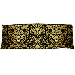 Damask2 Black Marble & Gold Brushed Metal Body Pillow Case Dakimakura (two Sides) by trendistuff