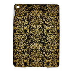 Damask2 Black Marble & Gold Brushed Metal Apple Ipad Air 2 Hardshell Case by trendistuff