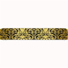 Damask1 Black Marble & Gold Brushed Metal (r) Small Bar Mat by trendistuff