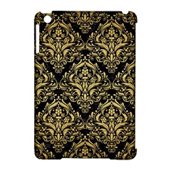 Damask1 Black Marble & Gold Brushed Metal Apple Ipad Mini Hardshell Case (compatible With Smart Cover) by trendistuff