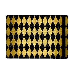 Diamond1 Black Marble & Gold Brushed Metal Apple Ipad Mini Flip Case by trendistuff