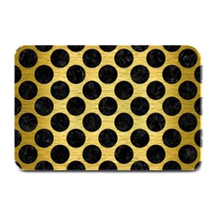 Circles2 Black Marble & Gold Brushed Metal (r) Plate Mat by trendistuff