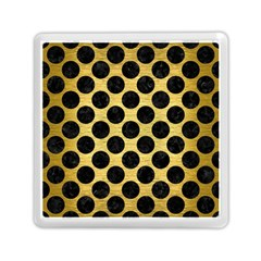 Circles2 Black Marble & Gold Brushed Metal (r) Memory Card Reader (square) by trendistuff