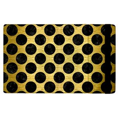 Circles2 Black Marble & Gold Brushed Metal (r) Apple Ipad 2 Flip Case by trendistuff