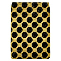Circles2 Black Marble & Gold Brushed Metal (r) Removable Flap Cover (s) by trendistuff