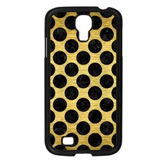Circles2 Black Marble & Gold Brushed Metal (r) Samsung Galaxy S4 I9500/ I9505 Case (black) by trendistuff
