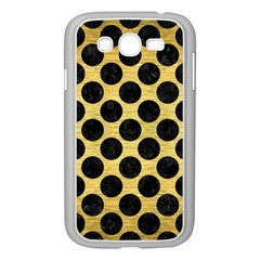 Circles2 Black Marble & Gold Brushed Metal (r) Samsung Galaxy Grand Duos I9082 Case (white) by trendistuff