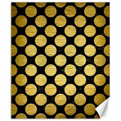 Circles2 Black Marble & Gold Brushed Metal Canvas 20  X 24  by trendistuff