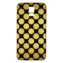 Circles2 Black Marble & Gold Brushed Metal Samsung Galaxy S5 Back Case (white) by trendistuff