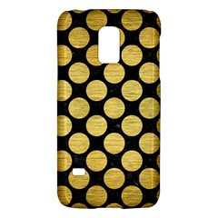 Circles2 Black Marble & Gold Brushed Metal Samsung Galaxy S5 Mini Hardshell Case  by trendistuff