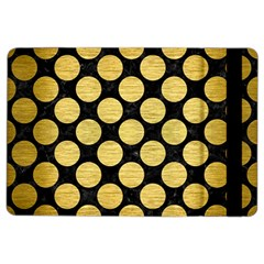 Circles2 Black Marble & Gold Brushed Metal Apple Ipad Air 2 Flip Case by trendistuff