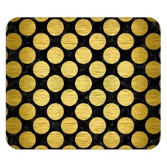 Circles2 Black Marble & Gold Brushed Metal Double Sided Flano Blanket (small) by trendistuff
