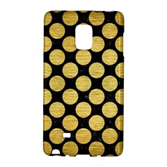 Circles2 Black Marble & Gold Brushed Metal Samsung Galaxy Note Edge Hardshell Case by trendistuff