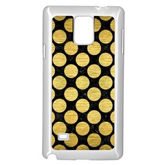 Circles2 Black Marble & Gold Brushed Metal Samsung Galaxy Note 4 Case (white)