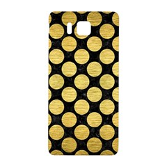 Circles2 Black Marble & Gold Brushed Metal Samsung Galaxy Alpha Hardshell Back Case