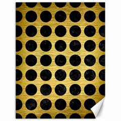 Circles1 Black Marble & Gold Brushed Metal (r) Canvas 18  X 24  by trendistuff