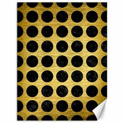 Circles1 Black Marble & Gold Brushed Metal (r) Canvas 36  X 48  by trendistuff