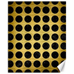 Circles1 Black Marble & Gold Brushed Metal (r) Canvas 11  X 14  by trendistuff