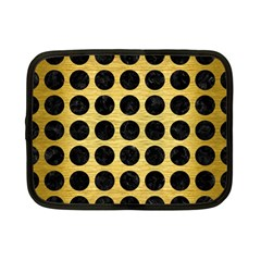 Circles1 Black Marble & Gold Brushed Metal (r) Netbook Case (small) by trendistuff