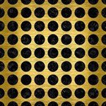 CIRCLES1 BLACK MARBLE & GOLD BRUSHED METAL (R) Congrats Graduate 3D Greeting Card (8x4) Inside