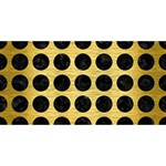 CIRCLES1 BLACK MARBLE & GOLD BRUSHED METAL (R) Congrats Graduate 3D Greeting Card (8x4) Back