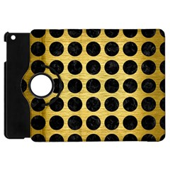 Circles1 Black Marble & Gold Brushed Metal (r) Apple Ipad Mini Flip 360 Case by trendistuff