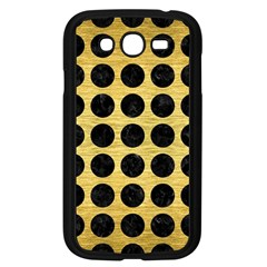 Circles1 Black Marble & Gold Brushed Metal (r) Samsung Galaxy Grand Duos I9082 Case (black) by trendistuff