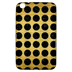 Circles1 Black Marble & Gold Brushed Metal (r) Samsung Galaxy Tab 3 (8 ) T3100 Hardshell Case  by trendistuff