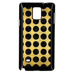 Circles1 Black Marble & Gold Brushed Metal (r) Samsung Galaxy Note 4 Case (black) by trendistuff