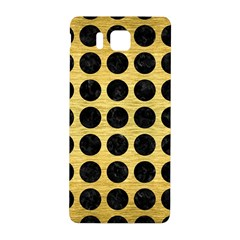 Circles1 Black Marble & Gold Brushed Metal (r) Samsung Galaxy Alpha Hardshell Back Case by trendistuff
