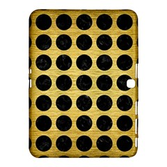 Circles1 Black Marble & Gold Brushed Metal (r) Samsung Galaxy Tab 4 (10 1 ) Hardshell Case  by trendistuff