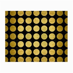 Circles1 Black Marble & Gold Brushed Metal Small Glasses Cloth by trendistuff