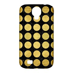 Circles1 Black Marble & Gold Brushed Metal Samsung Galaxy S4 Classic Hardshell Case (pc+silicone) by trendistuff