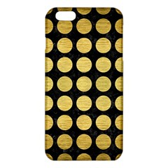 Circles1 Black Marble & Gold Brushed Metal Iphone 6 Plus/6s Plus Tpu Case