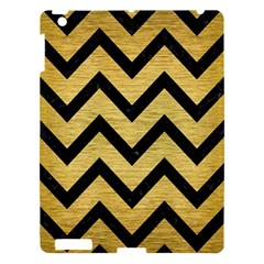 Chevron9 Black Marble & Gold Brushed Metal (r) Apple Ipad 3/4 Hardshell Case by trendistuff