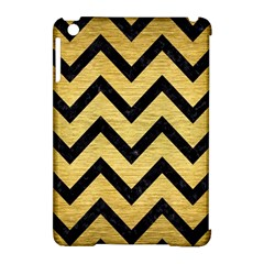 Chevron9 Black Marble & Gold Brushed Metal (r) Apple Ipad Mini Hardshell Case (compatible With Smart Cover) by trendistuff