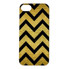 Chevron9 Black Marble & Gold Brushed Metal (r) Apple Iphone 5s/ Se Hardshell Case by trendistuff