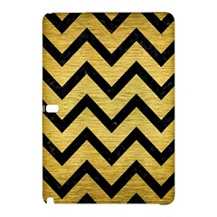Chevron9 Black Marble & Gold Brushed Metal (r) Samsung Galaxy Tab Pro 10 1 Hardshell Case by trendistuff