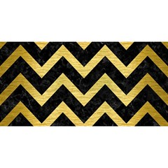 Chevron9 Black Marble & Gold Brushed Metal You Are Invited 3d Greeting Card (8x4) by trendistuff