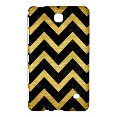 Chevron9 Black Marble & Gold Brushed Metal Samsung Galaxy Tab 4 (7 ) Hardshell Case  by trendistuff