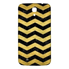 Chevron3 Black Marble & Gold Brushed Metal Samsung Galaxy Mega I9200 Hardshell Back Case by trendistuff