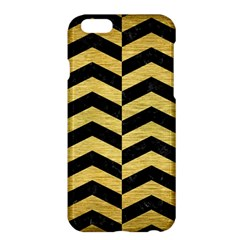 Chevron2 Black Marble & Gold Brushed Metal Apple Iphone 6 Plus/6s Plus Hardshell Case by trendistuff